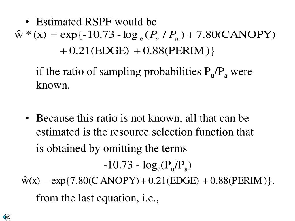 Estimated RSPF would be