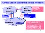 community attribute to the rescue