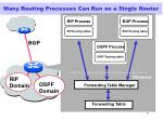 many routing processes can run on a single router