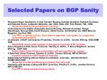 selected papers on bgp sanity