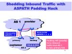 shedding inbound traffic with aspath padding hack