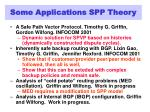 some applications spp theory