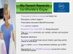 my parent rewards cardholders enjoy