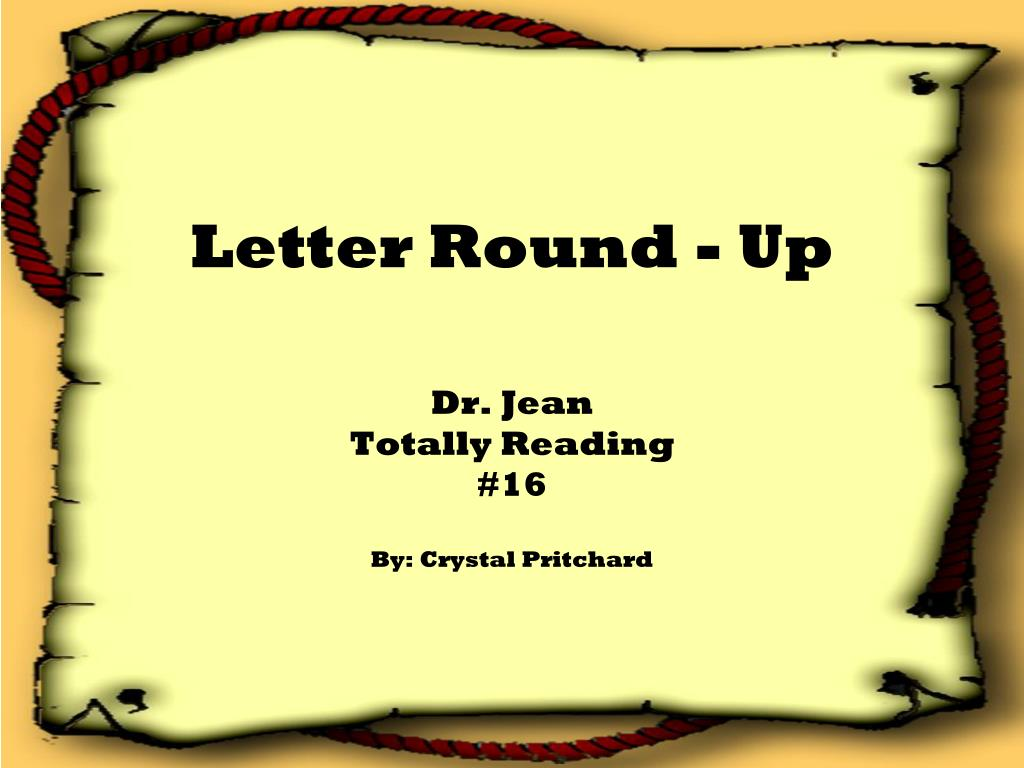 Letter Round - Up