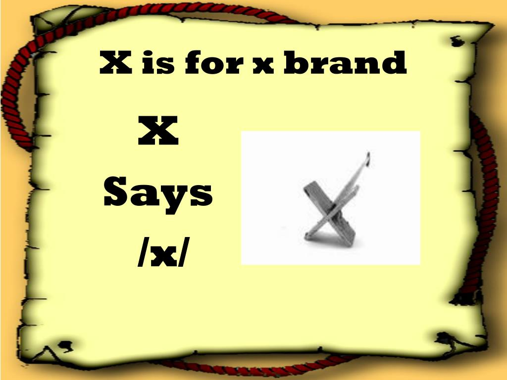 X is for x brand