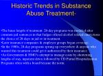historic trends in substance abuse treatment