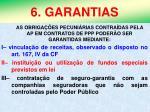 6 garantias