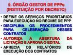 9 rg o gestor de ppps institui o por decreto