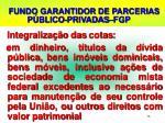fundo garantidor de parcerias p blico privadas fgp1