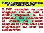 fundo garantidor de parcerias p blico privadas fgp2