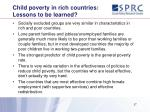 child poverty in rich countries lessons to be learned