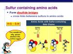 sulfur containing amino acids