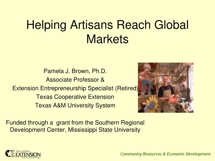 helping artisans reach global markets n.
