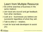 learn from multiple resource