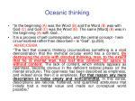 oceanic thinking