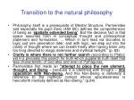 transition to the natural philosophy