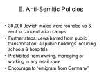 e anti semitic policies1