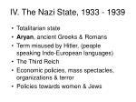 iv the nazi state 1933 1939
