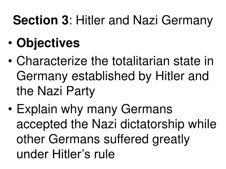 section 3 hitler and nazi germany n.