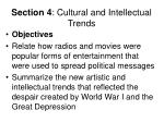 section 4 cultural and intellectual trends