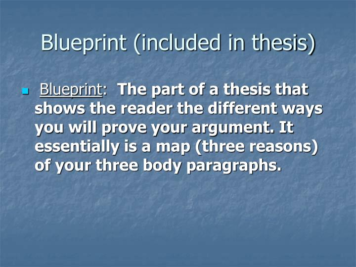 Blueprint (included in thesis)