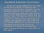 excellent example conclusion