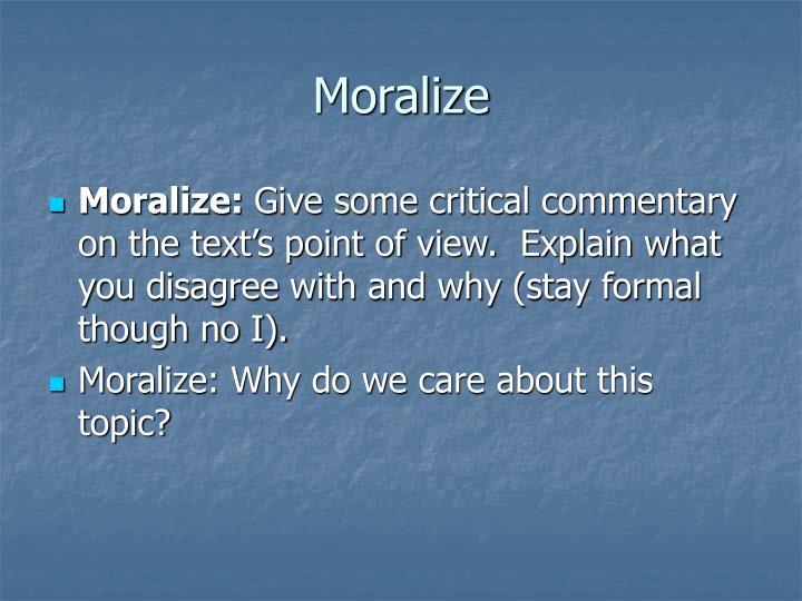 Moralize