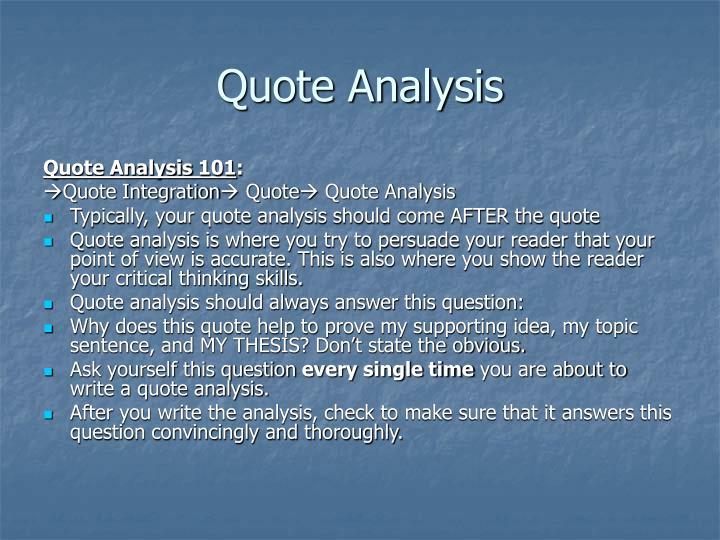 Quote Analysis