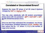 correlated or uncorrelated errors