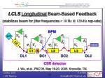 lcls longitudinal beam based feedback