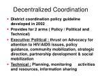 decentralized coordination
