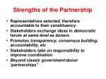 strengths of the partnership