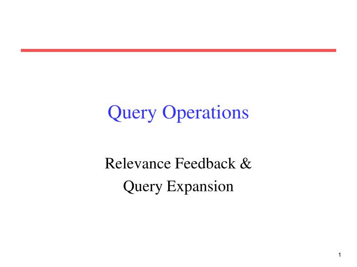 query operations n.
