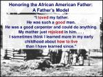 honoring the african american father a father s model