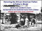 honoring the african american father a father s model1