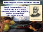 honoring the african american mother