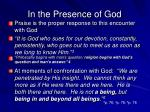 in the presence of god1