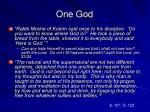 one god3