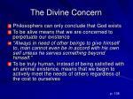 the divine concern