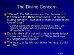 the divine concern1