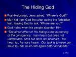 the hiding god