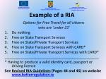 example of a ria