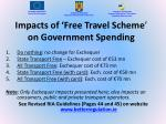 impacts of free travel scheme on government spending