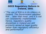 oecd regulatory reform in ireland 2001