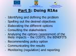 part 5 doing rias