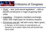 criticisms of congress