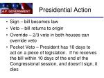 presidential action