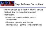 step 3 rules committee