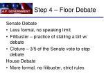 step 4 floor debate