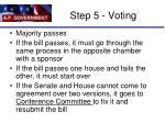 step 5 voting